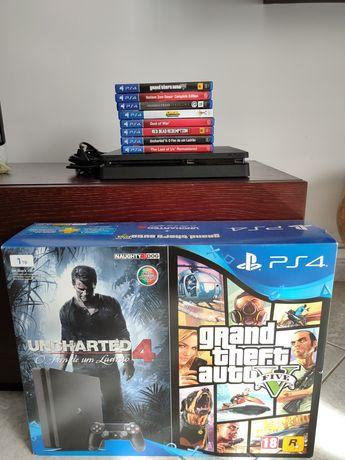 PS4 Slim 1TB c/8 jogos