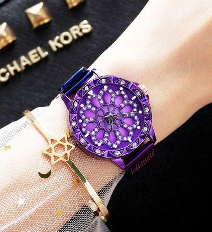 Модные Женские часы с вращающимся циферблатом на магните(Разные цвета)