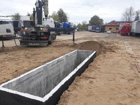 Zbiornik Betonowy Na Deszczówkę Kanał Samochodowy Szambo