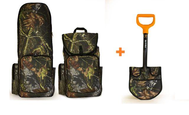 Рюкзак для металлоискателя + Fiskars Solid 131417 + чехол на лопату