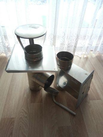 Rury i akcesoria - Komplet do komina z nierdzewki