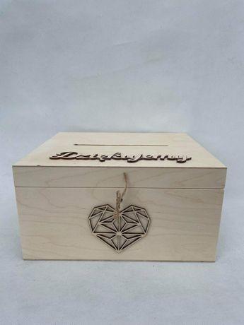 Skrzynka na koperty drewniana zamykana na kluczyk