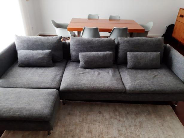 Sofa Ikea SODERHAMN 4 lugares+chaise longue+2 capas