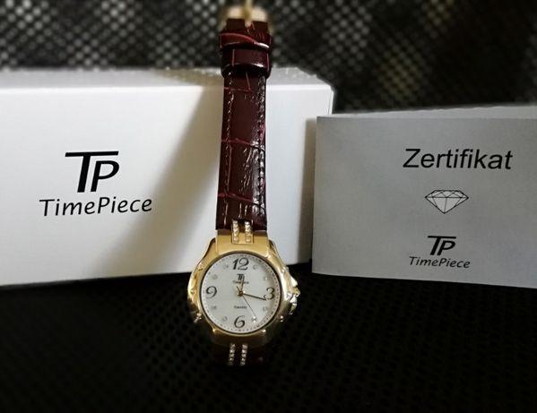NOWY zegarek damski Time Piece - kryształki Swarovskiego, biżuteria