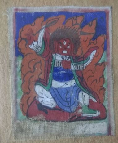 Tybetańska tanka miniaturowa Jamsaran. 19 wiek