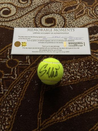 Piłeczka tenisowa Serena Williams oryginalny autograf Certyfikat