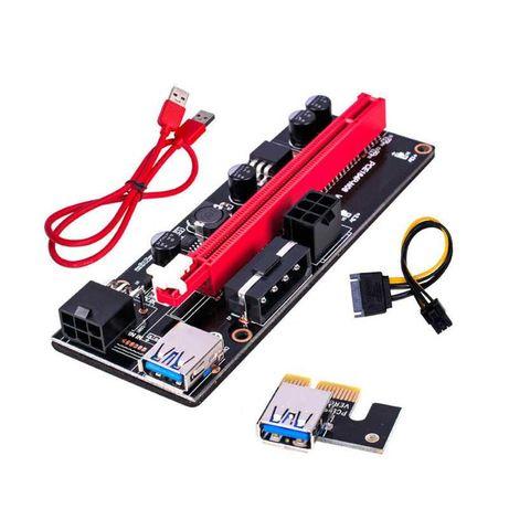 Adaptador PCI-E 1X para PCI-E 16X riser card mining v009s COM FATURA