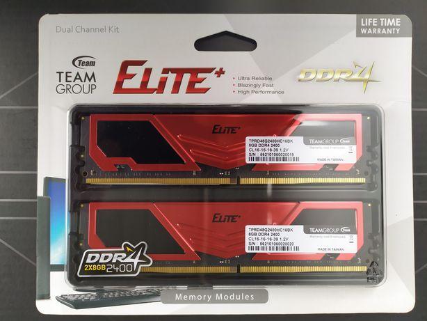 DDR4 TEAM 16Gb (2x8GB) 2400 Elite Plus Red (TPRD416G2400HC16DC01)