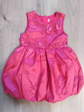 Różowa sukienka bombka r. 80