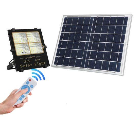 Lampa LED Solarna Uliczna 30W 60W 100W Czujnik Zmierzchu Halogen