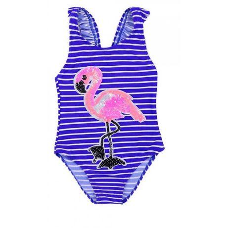 Купальник с фламинго детский для девочки 6-8-10-12 лет