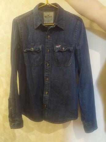 Продам джинсовую рубашку Hollister