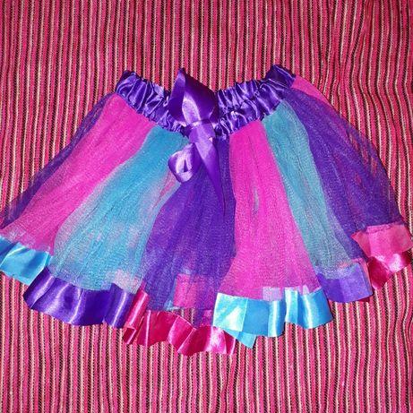 Юбочка туту, пышная юбочка, юбка из фатина, юбка для танцев р. 98-110