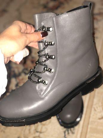Шкіряні черевики. Зима