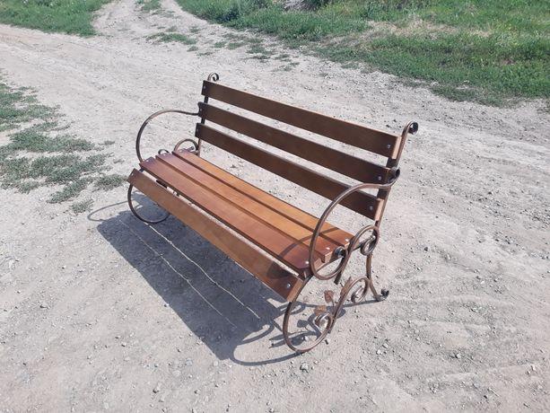 Лавка/скамейка/Лавочка кованная/садовый комплект/стол.