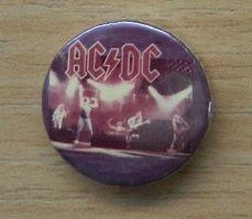 Ac/Dc stary button z lat 80-tych