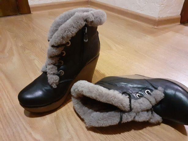 Ботинки натуральная кожа Торг уместен)))