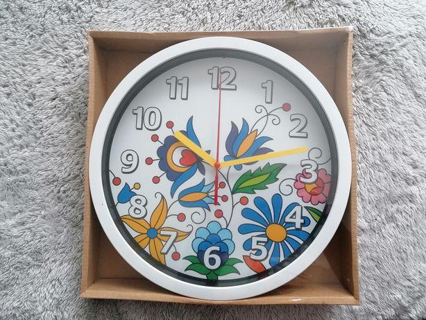 Zegar ścienny FOLK na baterie Kaszubski