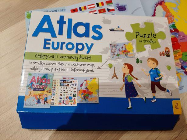 Atlas Europy puzzle