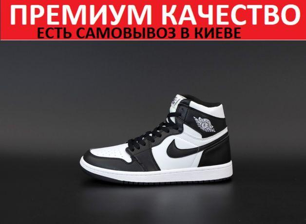 """Кроссовки Nike Air Jordan 1 Retro """"Black/White""""   Мужские/Женские найк"""