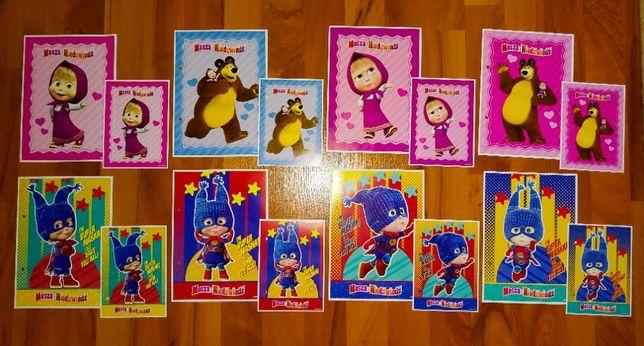 Karteczki Masza i Niedźwiedź - 3 serie - A5 i A6