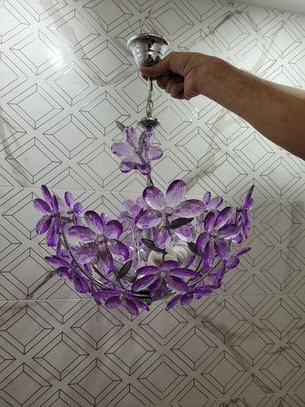 Żyrandol kwiaty, lampa sufitowa.