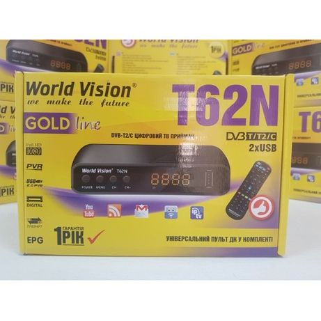 DVB-C/T2/T Новый World Vision T62N тюнер ресивер приставка ГАРАНТИЯ