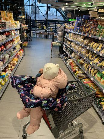 Чехол-накидка на тележку супермаркета для малыша