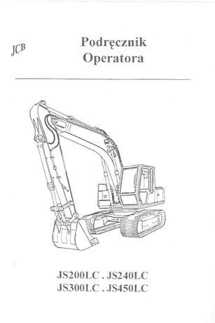Podręcznik operatora DTR koparki JS200LC, JS240LC, JS300LC, JS450LC