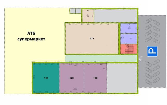 Аренда помещения 120 м/2 в торгово-офисном центре. ФАСАД