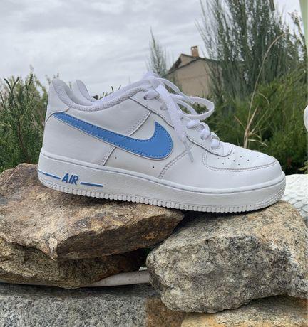 Оригинал Nike air force 1 university blue  найк jordan dunk low high