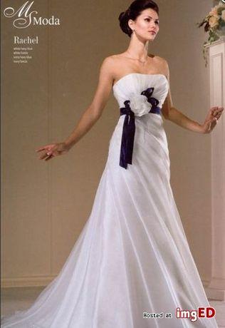 Prześliczna suknia ślubna MS Moda Rachel+gratis dodatki roz 38 regulac