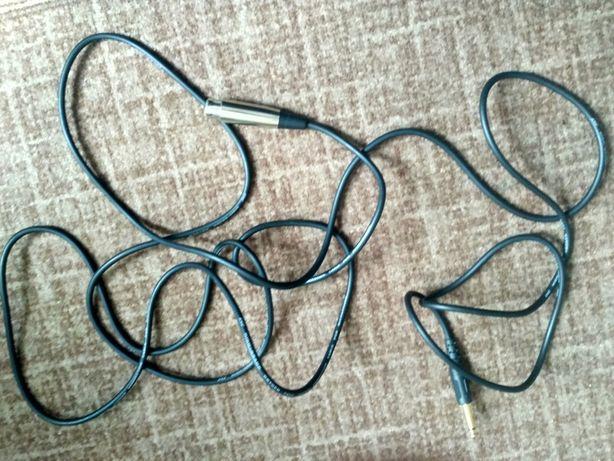 Kabel instrumentalny wokalny mikrofon 5 metrów