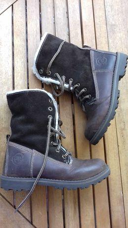 Lasocki ccc zimowe buty skóra zamsz 30
