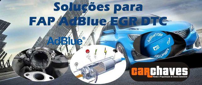 Soluções para FAP EGR AdBlue DTC
