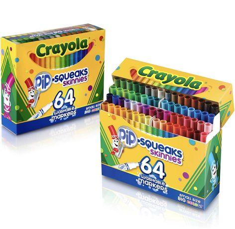 Моющиеся маркеры Crayola Pip-Squeaks Skinnies, 64 шт.