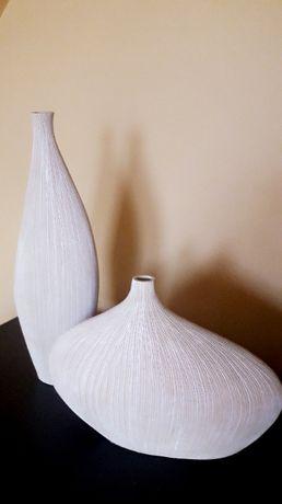 Komplet dwóch wyjątkowych wazonów naturalna struktura