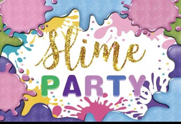 Backdrop / Fundo de festa Slime Party