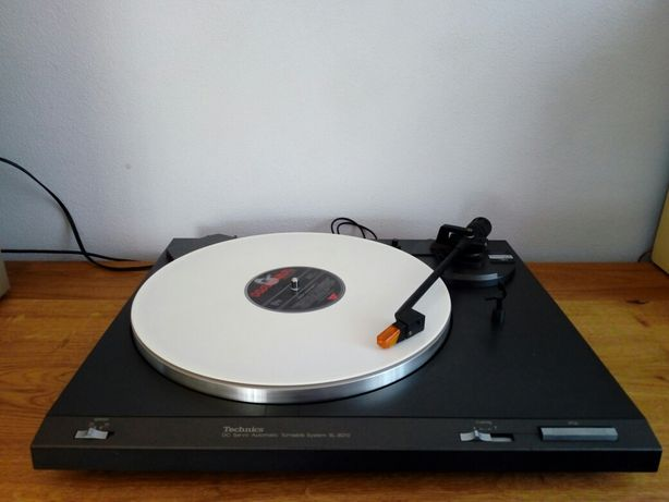 Gramofon Technics SL-B210,czarny i srebrny,wzmacniacz,tuner,CD.