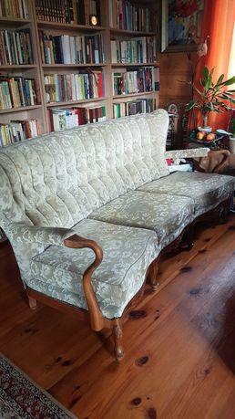 Komplet mebli Ludwik XIV sofa i 2 fotele
