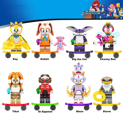 Bonecos / Minifiguras Sonic nº3 - compativeis com Lego