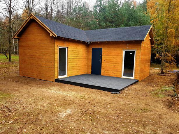 Domek letniskowy Domki letniskowe całoroczne drewniane 42,5 m2!!!