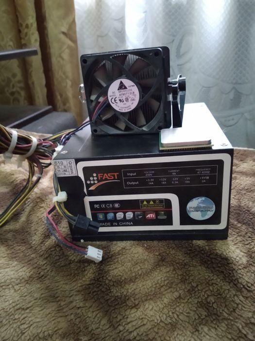 Продам комплект (процессор,блок питания и кулер для процессора) Одесса - изображение 1