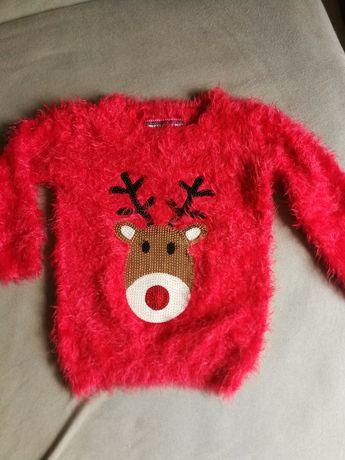 Sweter czerwony 110 cm