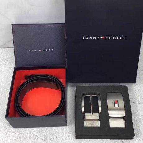 Мужской ремень/подарочный набор Tommy Hilfiger чоловічій ремінь/набір