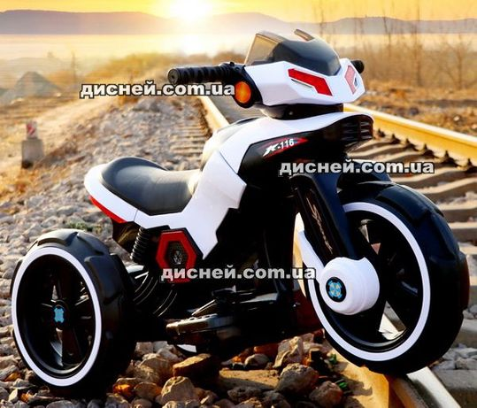 Детский мотоцикл M 3927-1 WHITE, электромобиль, Дитячий електромобiль