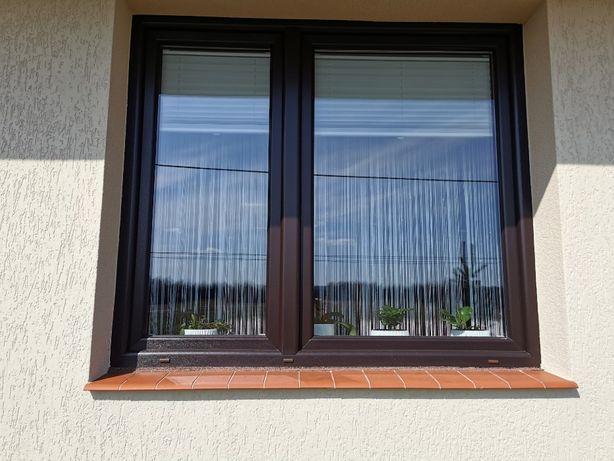Okno Nowe, po demontażu zew. brąz, wew. białe, 170x150cm, 3 szyby