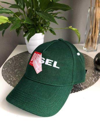 DIESEL NOWA czapka z daszkiem bejsbolówka zielona