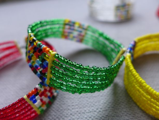 Afrykańska bransoletka biżuteria z Afryki (Masajowie KENIA] etno folk