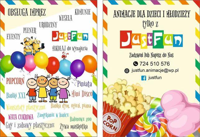 Animator dla dzieci i dorosłych WATA CUKROWA I POPCORN